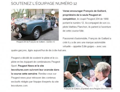 Tour Auto 2015 – Peugeot News !
