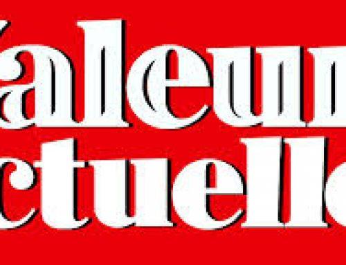 Parution dans Valeurs Actuelles 3/12/2015